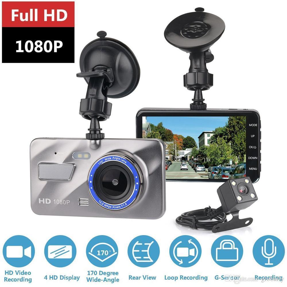 LED21 AK173F Duální auto kamera s LCD displejem a zadní parkovací kamerou